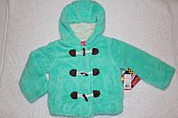 Теплая куртка меховушка для девочки, США, бирюза, р-ры 4 года, 5-6 лет