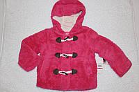 Теплая куртка меховушка для девочки, США, малиновая, р-ры 4 года, 5-6 лет