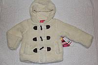Теплая куртка меховушка для девочки, США, бежевая, р-ры 4 года, 5-6 лет