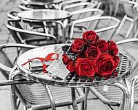 Расскраска по цифрам 40×50 см. Букет красных роз Фотохудожник Ассаф Франк, фото 1