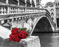 Картины по номерам 40×50 см. Букет у моста Фотохудожник Ассаф Франк