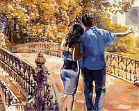 Картины по номерам 40×50 см. Манхэттенская история любви Художник Майкл Тарин