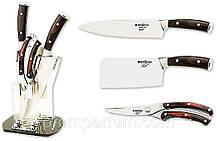 Набір кухонних ножів Grossman 03 B з підставкою MHR /05-62