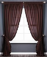 Шоколадные шторы в гостевую комнату