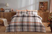 Двуспальное евро постельное белье TAC Brand Orange Сатин