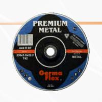 "Выпуклый круг для резки металла ""Premium Metal"". Диаметры: 115, 125, 150, 180, 230 мм Т42"