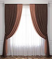 Комплект штор для гостиной  из плотной ткани