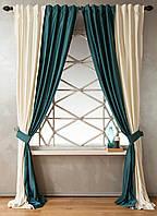 Готовые шторы из атласа на кухню, фото 1