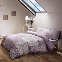 Двуспальное евро постельное белье TAC Romance Lilac Сатин