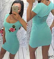 Платье мини / коттон с эластаном / Украина