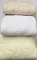 Одеяло летнее полуторное лебяжий пух 200г/м2 150*210 хлопок (7207) TM KRISPOL Украина