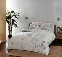 Двуспальное евро постельное белье TAC Vanessa Grey Сатин