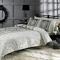 Двуспальное евро постельное белье TAC Hazel Grey Сатин