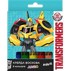Мелки восковые Jumbo, 8 цветов Transformers TF17-076