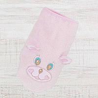 Рукавичка- Варежка для купания новорожденных 25*14см, Хлопок-Махра ,В наличии все цвета розовый