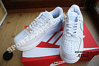 Кроссовки Nike Air Force One Low Leather White (Белые)
