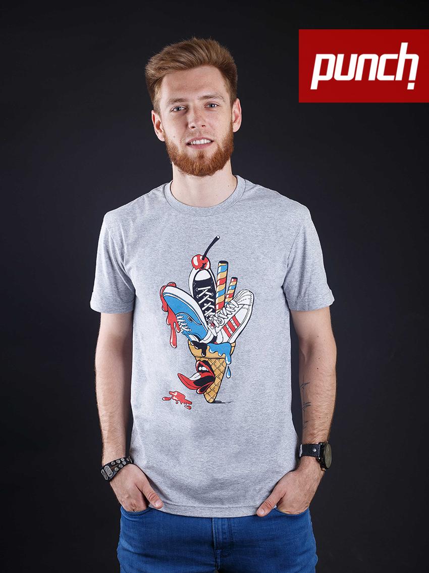 Футболка Punch - Ice Cream, Серая