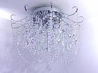 Люстра потолочная хрустальная с пультом (49х63х63 см.) Хром или золото YR-90080/8