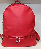 Ранец Рюкзак Стильный Однотонный Искусственная Экко-кожа  17-35425-1 Красный