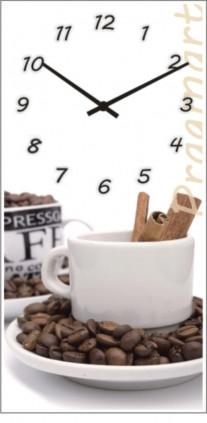 Часы настенные с символикой, логотипом на заказ Glass прямоугольные (225x450 мм) [Стекло, Открытые]