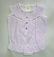 Детская летняя блузка на девочку 3-7 лет-