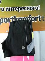 Мужские шорты из плащевой ткани  черные оригинал Соккер, размеры 46, 48, 50, 52, 54, 56.