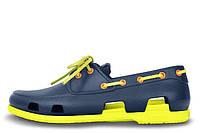 Мужские Crocs Beach Line Boat Navy/Citrus Shoe