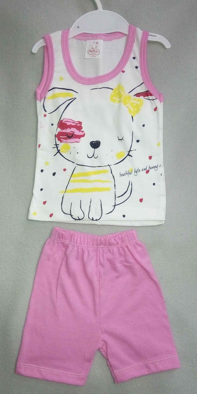 Детский летний костюм для девочек 1-3 года шорты с майкой - Интернет магазин одежды ВОЛК в Одессе