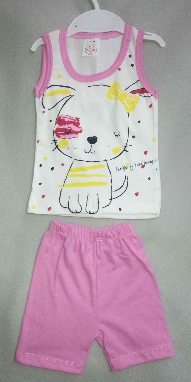 Детский летний костюм для девочек 1-3 года шорты с майкой