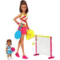 Набор игровой Барби тренер по теннису Barbie Tennis Coach Fashion Doll Brown