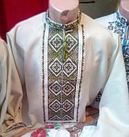 Оригинальная мужская вышиванка (лён-габардин)