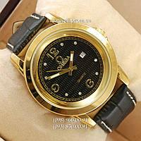 Часы Omega Quartz crystal Gold/Black