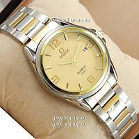 Часы Omega quartz 8266-1 Silver-gold/Gold