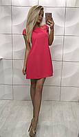 Женское яркое летнее платье свободного кроя