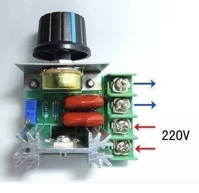Регулятор мощности, диммер AC 220V 2000 Вт (2 кВт)