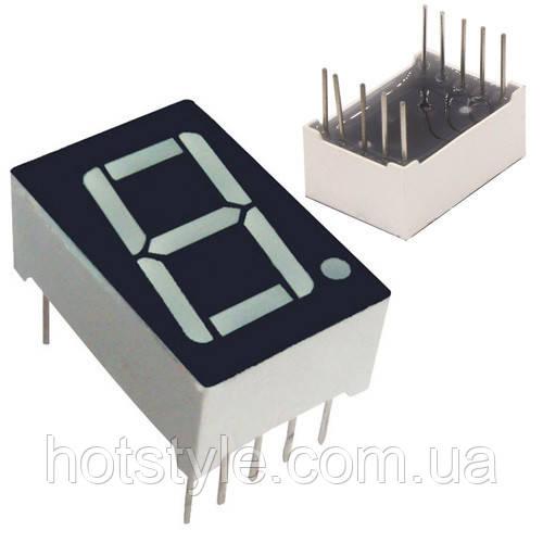 """7-сегметный индикатор 0.56"""" красный 10pin анод Arduino"""
