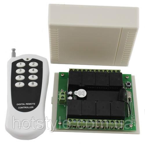 8-канальное беспроводное реле 12В, пульт, Arduino