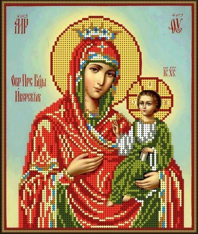 Б-4334 Пресвята Богородиця Іверська. Схема для вишивки бісером