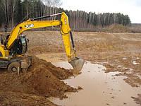 Очистка берегов водоемов, углубление озёр экскаватором