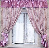 Комплект плотных штор с вставками 1,55мх2,8м. е262