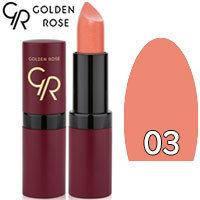 Губная помада матовая Golden Rose Velvet Matte Lipstick Тон 03 Peach Nature