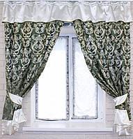 Комплект плотных штор с вставками 1,65мх2м. е265