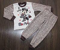 """Детская теплая пижама  для девочки """"Минни"""", 1-5 лет"""