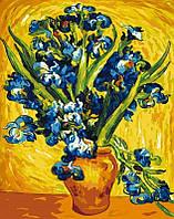 Картина для рисования по номерам Ирисы в вазе. Ван Гог