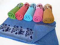 Махровое банное полотенце 140х70см (нота)