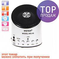 WSTER WS-A9 –многофункциональная компактная активная акустическая система с FM радиоприемником и функцией MP3
