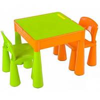 Детский столик и два стульчика Tega Mamut 899G Оранж/зеленый