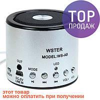 Переносная акустическая мини-система WSTER WS-A8 / Портативная колонка