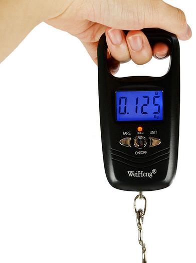 Цифровые портативные весы WeiHeng WH-A17, до 50 кг.