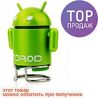 Портативный MP3 плеер FM/USB робот Android. Оригинальный mini speaker для меломанов! / переносная колонка